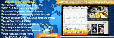 TV Stream CMS 3.0 NULLED + All plugins