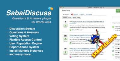 Sabai Discuss v1.3.33 - плагин вопросов и ответов для WordPress