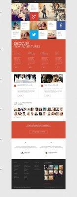 GK M Social - шаблон для социальной сети