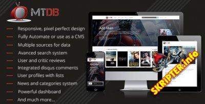MTDb v2.9.1 - скрипт для создания кино сайта
