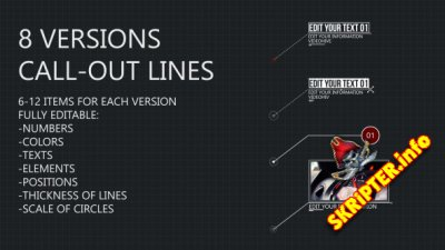 8 Line Call-Outs - Project for After Effects (Videohive)