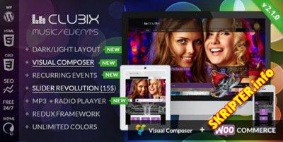Clubix v2.1.9 - музыкальный шаблон для Wordpress