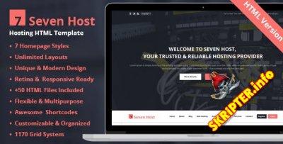 HTML шаблон Seven Host