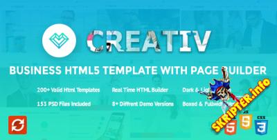 HTML шаблон Creativ v1.0.2 + Page Builder