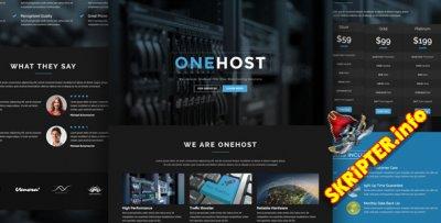 HTML шаблон OneHost v1.0
