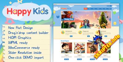 Happy Kids v3.3.7 - детский шаблон для Wordpress