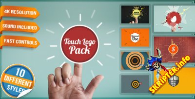 Touch Logo Pack - Flat Interactive Media Reveals - Project for After Effects (Videohive)