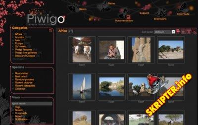 Piwigo 2.8.6 Rus - скрипт для создания сайта-фотогалереи
