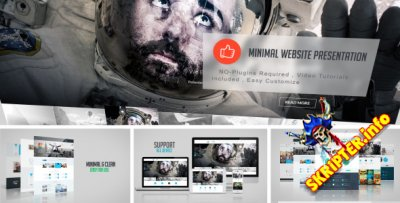 Minimal Website Presentation - Project for After Effects (Videohive)
