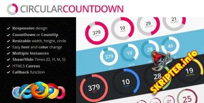 Circular countdown jQuery plugin