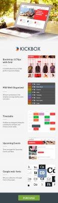 Kickbox адаптивная премиум HTML5 тема