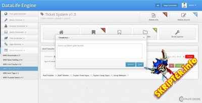 Ticket System v1.4.1 - система тикетов для DLE