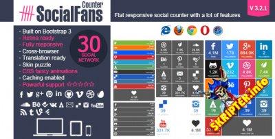 SocialFans Counter V3.2.1 - плагин подписчиков соц.сетей для WordPress