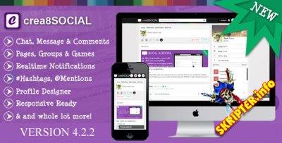 crea8SOCIAL 4.2.2 Rus - скрипт социальной сети