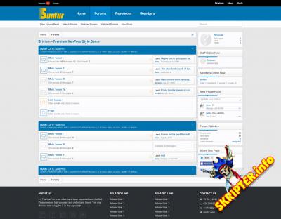 Sulfur v1.4.5 - современный стиль для XenForo