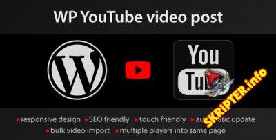 YouTube WordPress plugin v1.2.2 - импорт видео с YouTube