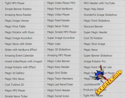 Magic Point Extensions - 44 модуля клубных расширений студии Magic Point для Joomla