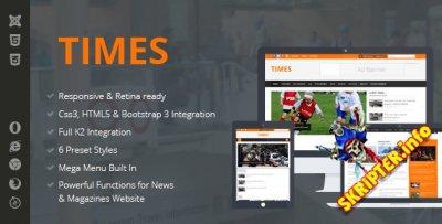 Times v1.0 - новостной шаблон для Joomla