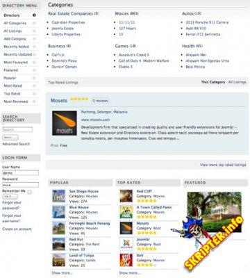 Mosets Tree v3.7.1 Rus - бизнес-каталог для Joomla