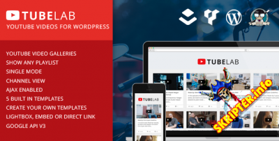 Tubelab v1.0 - YouTube плагин для WordPress