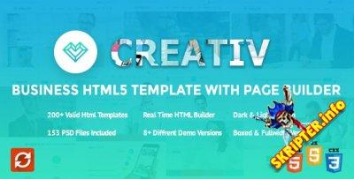 HTML шаблон Creativ v1.0.3 + Page Builder (конструктор страниц)