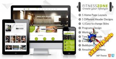 Fitness Zone v2.8 - спортивный шаблон для WordPres