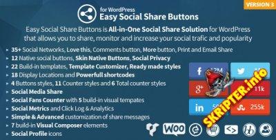 Easy Social Share Buttons v3.2.4 - социальные кнопки для WordPress