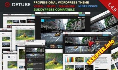 deTube 1.4.9 -  профессиональная видео-тема WordPress