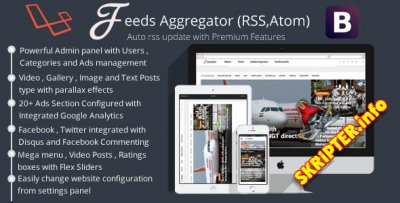 Feeds Aggregator v1.1 - One Click Site Builder