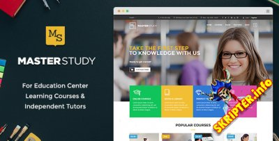 MasterStudy v1.2 - шаблон сайта Центра образования и обучения для WordPress