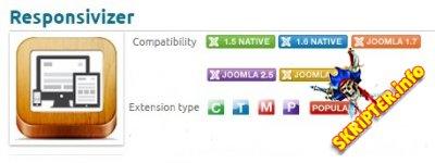 Responsivizer v2.1.1 - адаптация Joomla для мобильных устройств