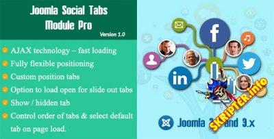Joomla Social Tabs v1.0 Pro - модуль социальных сетей для Joomla