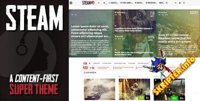 Steam v1.11 - новостной шаблон для WordPress