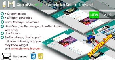 SocialMat v1.2 - скрипт социальной сети