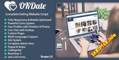 OKDate v.1.8 - скрипт сайта знакомств