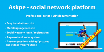 Askpe 1.0 - социальная сеть формата Q&A