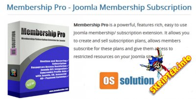 Membership Pro 2.0.8 - компонент подписки и членства для Joomla