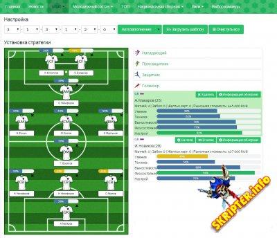 Скрипт браузерной игры Football Manager v5.2.4 Rus