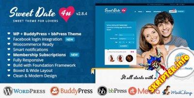 Sweet Date v2.8.4 - уникальная премиум тема для WordPress