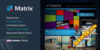 Matrix v2.2.1 - премиум шаблон для WordPress