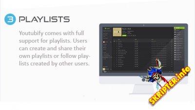 Youtubify v1.8 - скрипт музыкального сайта