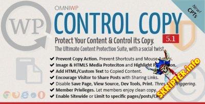 Control Copy v5.1 - защита контента от копирования для для WordPress
