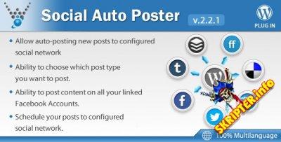 Social Auto Poster v2.2.1- плагин кросспостинга новостей для WordPres