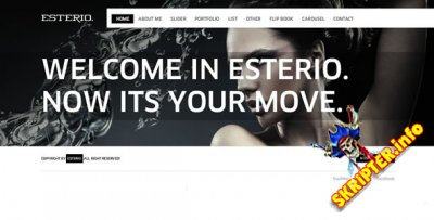 Esterio v15 - флеш шаблон сайта