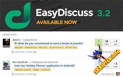 EasyDiscuss v3.2.9676 Pro Rus - современный форум для Joomla