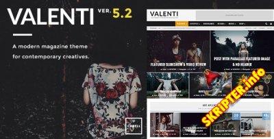 Valenti v5.2 Rus - журнальный шаблон для WordPress