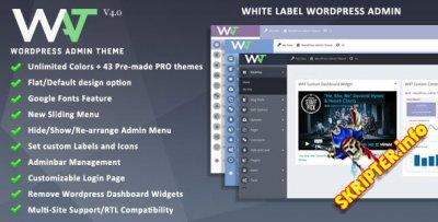 WP Admin Theme v4.0 - плагин настройки админки для WordPress