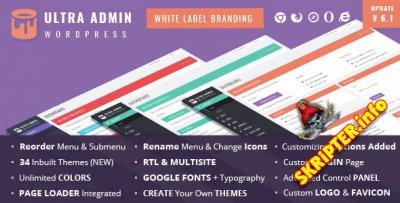 Ultra Admin Theme v6.1 - плагин настройки админки для WordPress