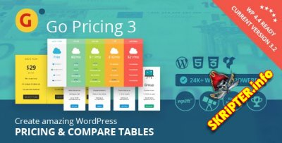 Go Pricing v3.2 - таблицы цен для WordPress