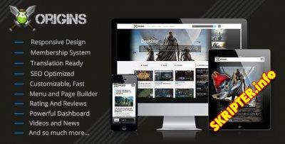 Origins v1.5 - скрипт игрового портала